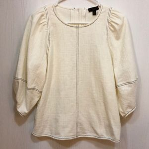 New Anthropologie Karnes Structured Top Cream XS